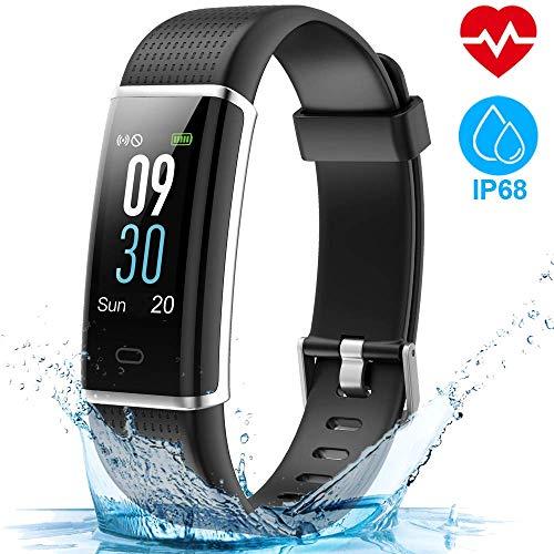 HOMSCAM Orologio Fitness Tracker Smartwatch Cardiofrequenzimetro da Polso Donna Uomo Bambini Smart Watch Fitness Braccialetto Contapassi Calorie Impermeabile IP68 per iPhone Huawei Xiaomi Samsung