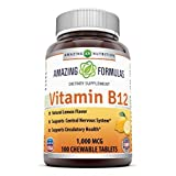 Amazing Nutrition Vitamin B12 1000 Mcg 100 Chewable Tablets from Amazing Nutrition