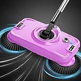 Aspirapolvere Spazzare le mani Mocio Manufatto rastrellante Un mop per la casa Robot elettrico aspirapolvere Detergente per pavimenti (Color : Purple, Size : 30 * 16 * 128 cm/12 * 6 * 50 inch)