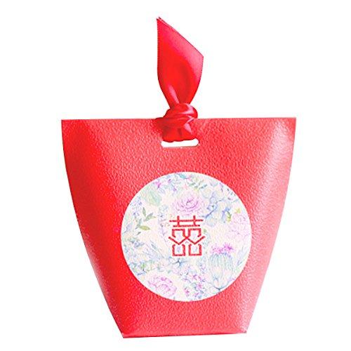 red Pappschachtel Süßigkeiten Geschenk-Box mit doppeltem Glück zu bevorzugen Beutel 10 Stück (Bonbons oder Pralinen nicht enthalten)