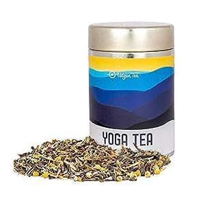 Udyan Yoga Tea, 50 gm (20 Cups)   Wellness Tea   Indian Herbal Tea   Calming Tea, Stress Relief Green Tea with Chamomile, Lavender & Herbs   100% Natural Ingredients   Gold Tin Tea Gift Caddy