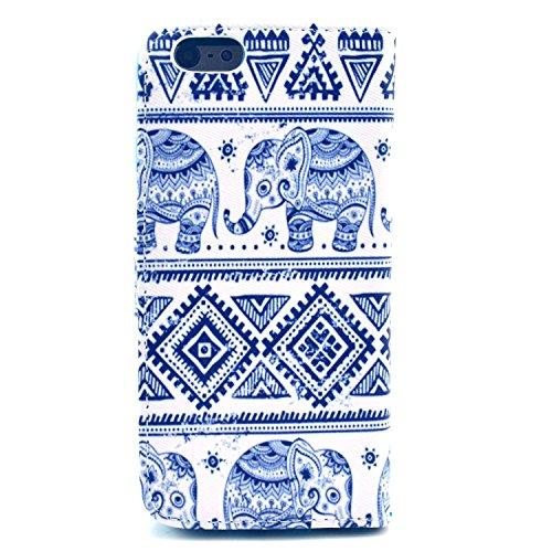 """MOONCASE iPhone 6 Plus Case Motif Conception Coque en Cuir Portefeuille Housse de Protection Étui à rabat Case pour iPhone 6 Plus (5.5"""") P53"""