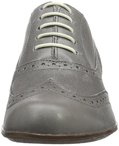 Clarks Hamble Oak, Chaussures à Lacets Femme Gris (Grey Leather)