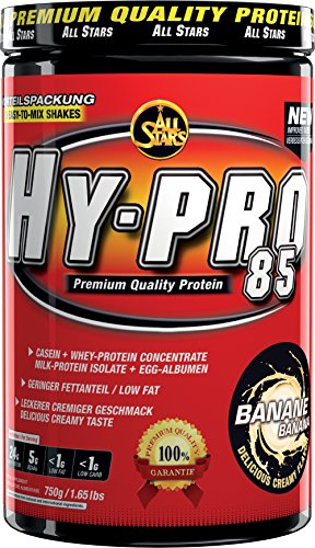 All Stars Hy-Pro 85 Protein, Banane, 1er Pack (1 x 750 g)