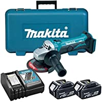 Makita DGA452RME - Mini-Amoladora A Bateria 18V 4.0 Ah Litio-Ion 115 Mm Con Sistema Antirestart