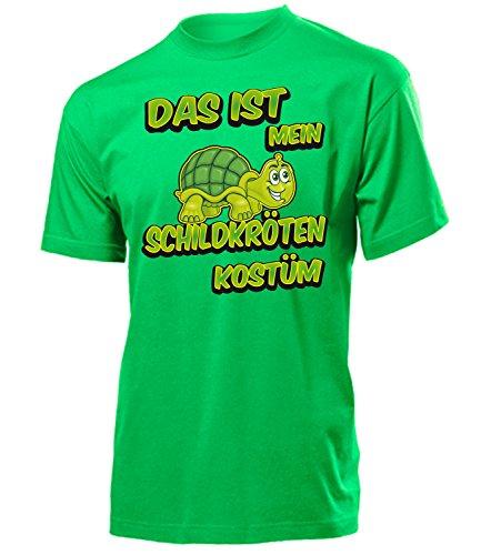 Schildkröten Kostüm Herren T-Shirt Motto Party 4919 Karneval Fasching Faschings Karnevals Tier Paar Gruppen Outfit Klamotten Oberteil Grün XL
