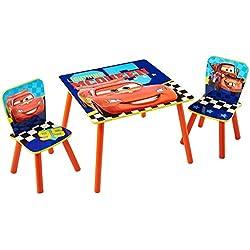 Disney Cars - Conjunto infantil de mesa y dos sillas