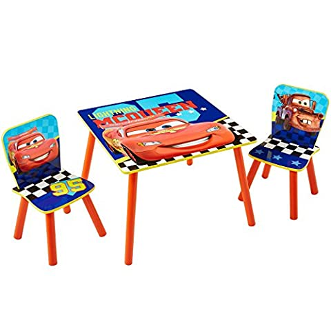 Disney Cars Kids Table and 2 Chair Set by
