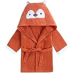 URBEAR Unisex Bébé Mignon Animal Peignoir en Coton Enfant Plage Capuche Serviette Soirée de Bain pour Bébé 12-36 Mois