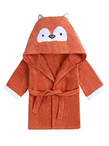 URBEAR Baby Kapuzenhandtuch Baumwoll Bademantel Badetuch mit Kapuze Perfekt als Geschenk für Säuglinge, Kleinkinder 1-3 Alter, Fuchs