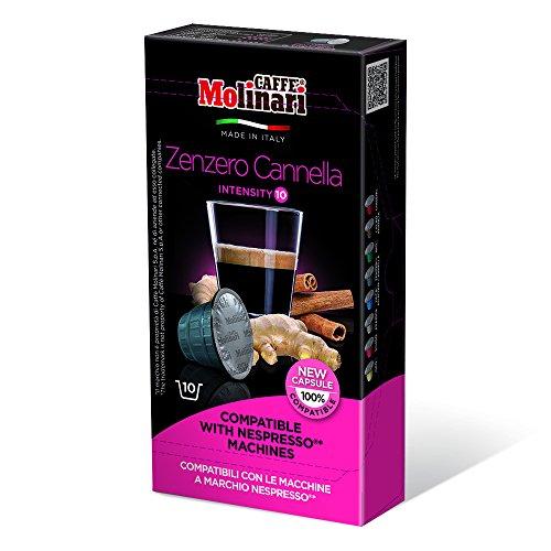 Order CAFFÈ MOLINARI Coffee - Nespresso compatible capsules - ESPRESSO GINGER and CINNAMON - 80 capsules pack - Caffè Molinari S.p.A., ITALIA