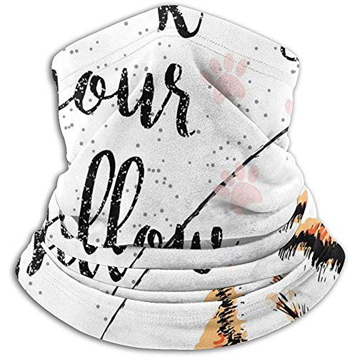 Overlooked Shop Love is A Kitty On Your Pillow, Love Quote About Pets Calentador de cuello Gaiter - Polar Fleece Cold Weather Face Mask para Hombres Mujeres