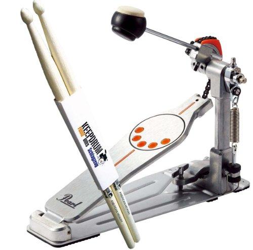 Pearl P-930 Demonator Fußmaschine + 1 Paar KEEPDRUM Drumsticks GRATIS!