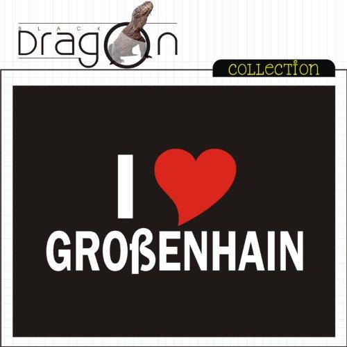 T-Shirt mit Städtenamen - i Love Großenhain - Herren - unisex Schwarz