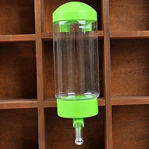baby intelligence 1 Stück Getränk Flasche Kaninchen Katzen Geschenk für Haustier 350ML Haustier Wasserflaschen Hunde Katzen Wasser Feeder Hamster Zubehör hängende Wasserflasche Dispenser portable (Grün)