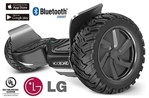 HOOBOARD - Primera Tabla de monopatín de Equilibrio Inteligente para Todo Terreno, Hoverboard, Patinete, 800 W, con Certificado UL2272, batería LG, Impermeable, a Prueba de Polvo, Saco Incluido