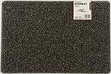Nicoman - Felpudo Grande de Entrada al Aire Libre, Lavable, PVC, Bobina de Goma, 60 x 90 cm, marrón y Beige