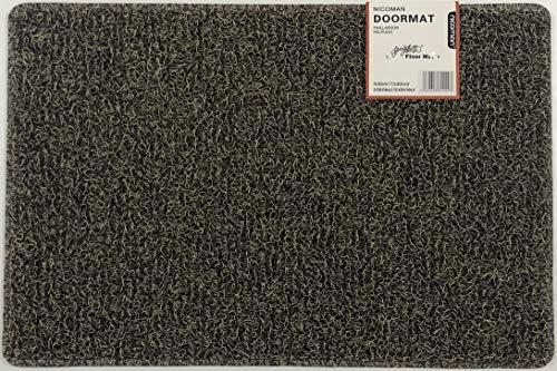Nicoman Schmutzfänger Barrier Fußmatte schwere Bodenmatte-(Geeignet für Innen- und Schützen Außen), Klein (60x40cm), Braun & Beige