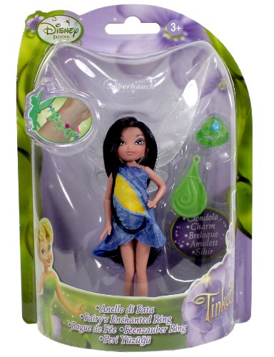 Disney Fairies Puppen 10cm mit Ring (blau) - Silberhauch