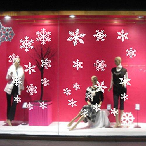 Selbstklebend Fensterschmuck Weihnachten Schneeflocke Weihnachtsdeko Fenstertattoo Wandtattoo Weihnachten Deko Weiss (Weihnachten Schneeflocke)