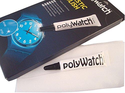 Polywatch & Tuch Polieren Kit-Armbanduhr Kristall Kratzer Entferner