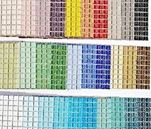 SOOTHING IDEAS 540 Pack Glass Mosaic Tiles 1x1cm Venetian Glass tiles 30 Colours Crafts Decoration