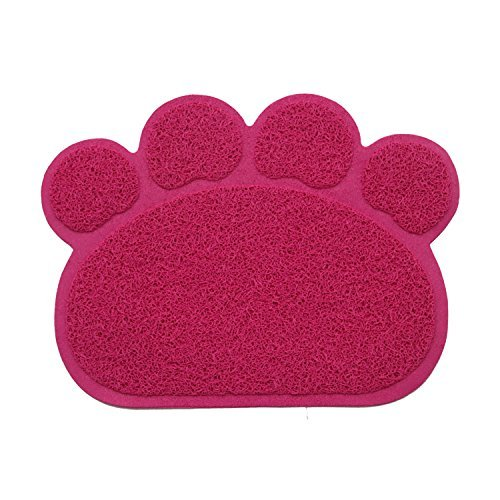 Potpor tappetino per lettiera per gatto acchiappa paw-shaped grass-like materia trappole a chiusure lettiera 30cm * 40cm * 0,7cm