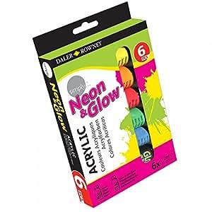 Daler Rowney Simply Acrylic Neon & Glow 6X12ml Set