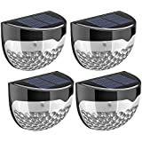 TOPELEK Solar Fence Lights, Decorative Lights 6 LED Garden Lights, Waterproof Solar Lights Wireless Outdoor Lights for Patio, Fence, Yard, Garden, Garage, Stairway, Gate, Wall (Pack of 4)