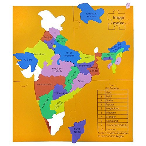 India Map With All States.Imagimake Mapology States Of India Map Puzzle Educational Toy