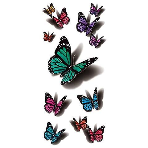 COKOHAPPY Temporaire Tatouage En volant Papillon