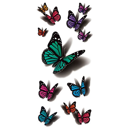 Tattoo 3D Fliegend Schmetterling (Walmart Halloween-make-up)