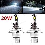 2x 20W H4LED Leuchtmittel CREE XTE KFZ, DC 12V/24V 360Grad, 720lm, weiß Scheinwerfer 6000K Nebel Lampen
