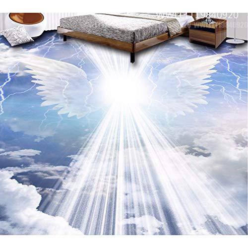 Rureng 3D Flooring Angel Wings Cloud Wallpaper 3D Floor Stickers Wasserdichte Selbstklebende ()