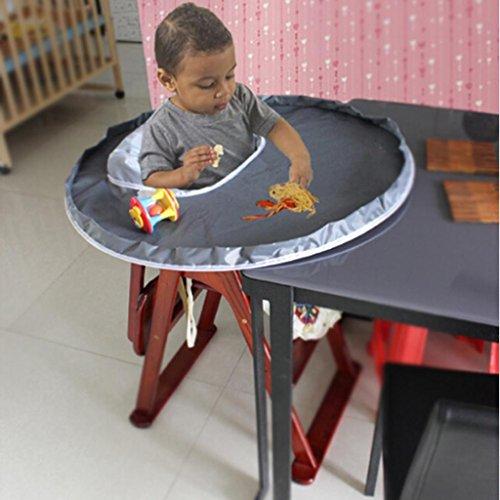 Kinder Hochstuhl Tischset Platte Upxiang Baby Tisch Silikon Matten Kleinkind Gericht Lebensmittel Tisch Tischset Wasserdichte Abendessen Matte Abdeckung Tisch Matte (Grau) (Boden Abdeckung Hochstuhl)