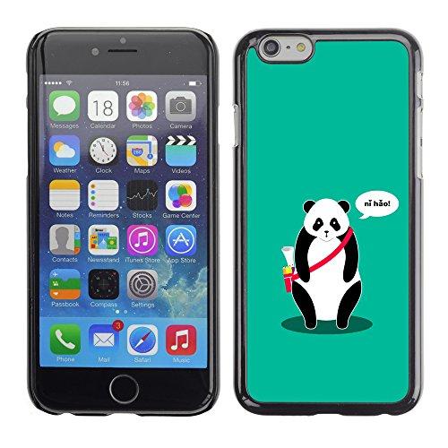 Graphic4You Ni Hao China Karikatur Panda Tier Design Harte Hülle Case Tasche Schutzhülle für Apple iPhone 6 / 6S Design #5