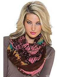 Fashion Damen Loop Schal Schlauchschal Tuch in verschiedenen Designs und Farben