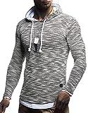 LEIF NELSON Herren Strick-Pullover   Strick-Pulli mit Kapuze   Moderner Woll-Pullover Langarm-Sweatshirt Slim Fit