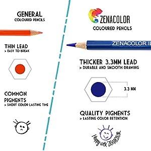 51W68kKuVIL. SS300  - Lpices-de-Colores-72-120-con-Caja-de-Metal-de-Zenacolor-72-y-120-Colores-nicos-Fcil-Acceso-con-Bandejas-Conjunto-Ideal-para-Artistas-Adultos-y-Nios