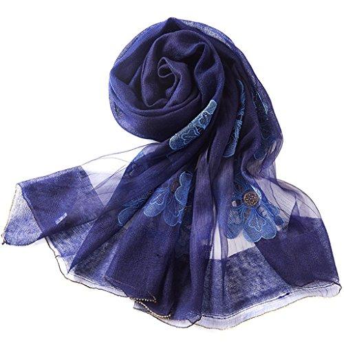 serviette de plage Echarpe Lady Silk Écharpe couleur pure Châle sauvage de haute qualité ( Couleur : F ) B