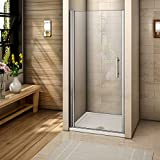 760mm Frameless Pivot Shower Door Enclosure 6mm Safety Glass Reversible Shower Cubicle Door NEXT WORKING DAY DELIVERY