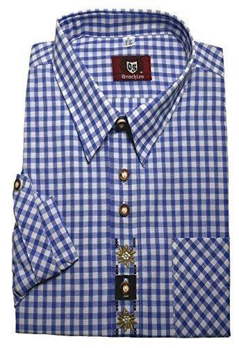 Kentkragenhemd weiß-blau L