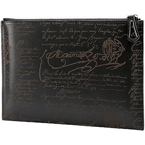 Bolso grande de cuero moda hombre joven ocio bolsa sobres Kraft ,Negro