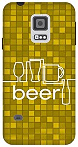 The Racoon Grip Beer hard plastic printed back case/cover for Samsung Galaxy S5 Mini