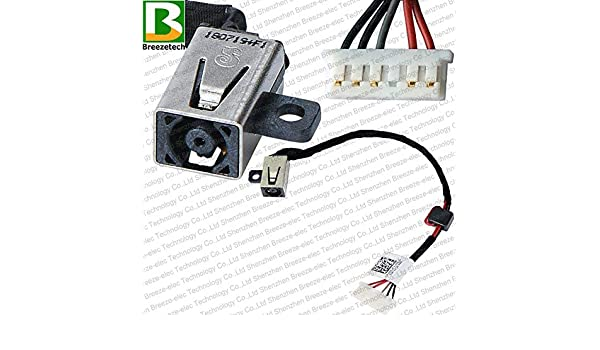 Computer Cables Laptop DC Power Jack Socket Cable Wire Connector for DELL 15 5555 5558 5559 v3558 v3559 5455 5458 5459 Cable Length: Cable