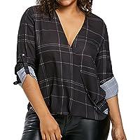 Blusas Mujer, ASHOP Casual Talla Extra Raye Sudaderas Ropa en Oferta Camisetas Manga Larga Tops de Fiesta Abrigos Invierno de Mujer otoño