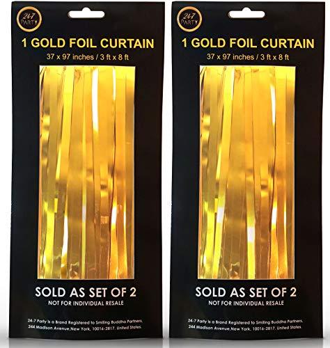 g-Set von 2-Gold Metallic Hintergrund/Türöffnung-Perfekt Halloween, Weihnachten und Silvester Party Dekorationen. Fun für Geburtstag, Junggesellinnenabschiede & Hochzeiten ()