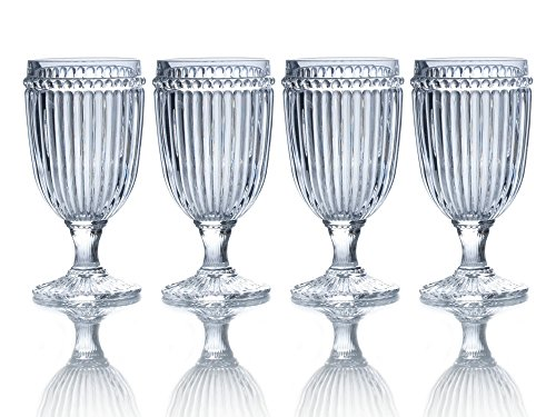 Mikasa Italian Countryside Iced Beverage Glass, Clea. 13-Ounce, Set of 4 Iced Beverage Glas