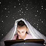 Mias Leuchtstpunkte/Leuchtsterne für Deinen Sternenhimmel - Fluoreszierend und im Dunkeln leuchtend - 368 Aufkleber, bestehend aus Sternen und Punkten