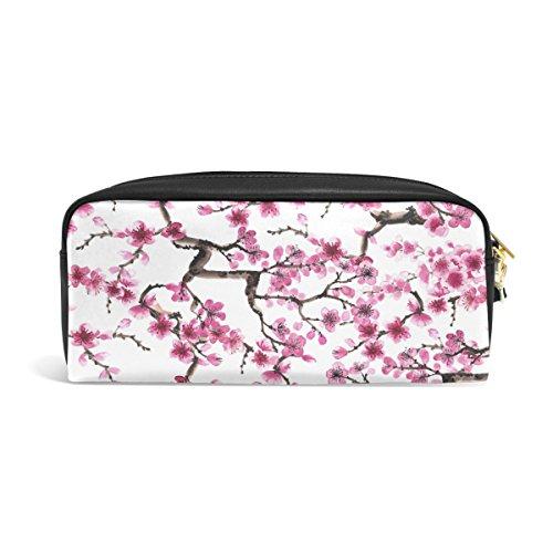 ZZKKO japanische Kirschblüte, Leder, Reißverschluß, Bleistift, (Radierer Japanischen)